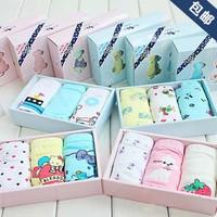 Free Shipping 2 box blessdog blue panties 100% child cotton panties