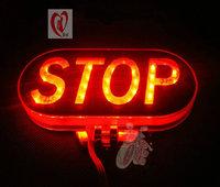 Refires motorcycle lamp colorful flasher led brake lights lighting flasher strobe light stop warning light STOP free shipping