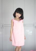 Ultrafine fiber child towel super absorbent bathrobe solid color comfortable cotton dress free shipping
