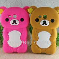 Rilakkuma Bear Silicone Soft Cover Phone Case Skin Protector For Samsung GT- i8190 Galaxy S3 Mini Free Shipping
