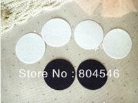 Free shipping 6*6cm Round Felt accessory patch/felt circles,DIY flower material, black and white colors available
