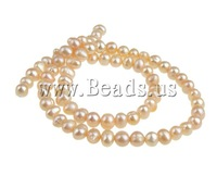 Free shipping!!!Potato Cultured Freshwater Pearl Beads,Cute Jewelry, natural, pink, 4-5mm, Hole:Approx 0.8mm, Length:14.5