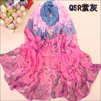 HOT SELLING! Chiffon Silk Scarf Long Design New Fashion Accessories Scarves Muffler spring Autumn shawl scarf pashmina FREESHIP