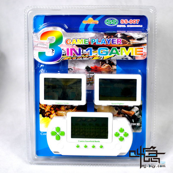 Free shipping Handheld game consoles ss-007 card game machine 3 1 game machine
