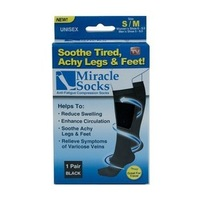 300pair/lots Hot Selling Miracle Socks Anti Fatigue Compression Socks As Seen On TV