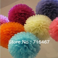 "10 pc 18"" Tissue Paper Pom Poms Flower Balls Wedding Party Shower Decoration tissue pom poms/tissue pom paper flower ball"