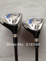 2PCS Rbladez Stage 2 Golf Hybrids Woods With Graphite R Shafts+Grips+Head Covers Golf Clubs #2345