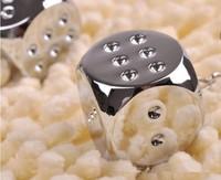 Wholesale 20PCS / lots High quality dice keychain Keyfob keyring metal gift keychain - 7045q