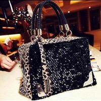 2013 new leopard Sequin/leopard fur women's fashion single shoulder bag,wedding handbags and ladies' evening bag