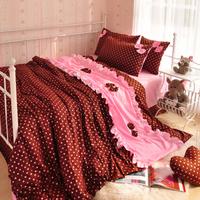 free shipping Wedding kit bedding single 100% cotton child piece bedding set