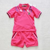 Children's fashion suit  girl's sportsuit tracksuit 2pcs 1 set two colour children's garment Freeshipping