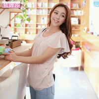 2013 summer women's loose chiffon shirt women's basic summer chiffon top female