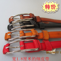 2013 spring and summer new arrival all-match strap female genuine leather thin belt Women fashionable casual anti-allergic strap