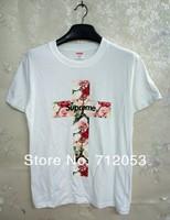Supreme 13ss Power Corruption Lies Pocket Cross flower men Tee / hot cakes fashion leisure supreme Cross flower t-shirt HBA