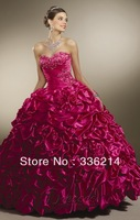 Fuchsia Ball Gown Strapless Sweetheart Floor Length Quinceanera Dresses With Jacket 2013 New Fashion