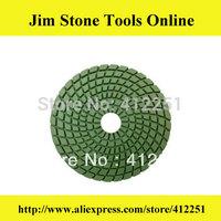 "4"" Wet Polishing Pads/diamond polishing pads for granite and marble /Spiral Shape Stone Flexible polishing pads+ Wholesale"