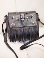 2013 spring and summer fashion skull tassel small bag portable one shoulder cross-body women's handbag bag 519