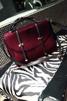 Free Shipping Hot 2014 Fashion Wine Red shoulder  handbag  women messenger bags Portable briefcase