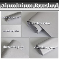 Hot Sale Silver Color Brushed Aluminium Vinyl /1.52x30M/Air Free Bubbles