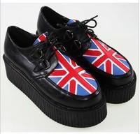 Free shipping,2013  vivi magazine all-match recessionista platform polyester PU platform shoes size 35-40