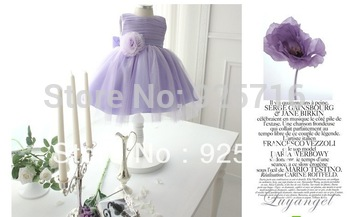 international best-selling girl dress children's clothing children dress purple  veil