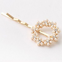 Wholesale crystal hair pin spiral decorative hair pins, 12 pieces / lot free shipping