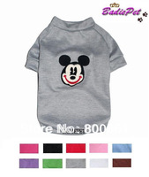 Free Shipping! Retail Micky Head Vestee Short-sleeved Dog T-shirt 10 colors 5sizes available(10% off for 2pcs)