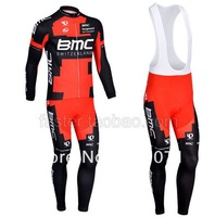 free shipping!hot selling 2013 BMC long sleeve cycling jersey + bib pants kit/bicycle wear/bike jersey/cycle clothing bmc