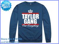 free shipping Taylor gang sweatshirt male with a hood outerwear male wiz khalifa shark pullover plus size men hoodies