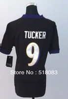 2013 Wholesale Jerseys 9 Justin Tucker Black Women's Game Jersey Embroidery logos Cheap Football Jerseys Size:S-XXL