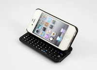 Free shipping Wireless Bluetooth 3.0 Slide Rotatable Stand Backlight Keyboard Case for iPhone4 iPhone4S K40L