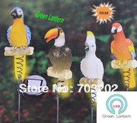 4 pcs in 1 set parrot solar light