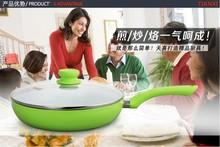 26cm New & Hot Selling Ceramic Pan ,Non Stick Frying Pan,Smoke-Free NO Cover(China (Mainland))