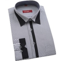 New Design Men's Business Casual Shirt Stylish Men Dress Shirt Long Sleeve Men Shirt