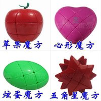Shaped magic cube combination of  for apple   heart egg five-pointed star
