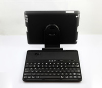 Free shipping Wireless Bluetooth Keyboard with Detachable & 360 Degree Rotating Protective Case for iPad 2 iPad 3 and iphone