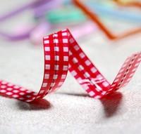 red plaid design wire metallic twist tie gift candy cookie bag tie