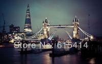 "02 London bridges light water cityscapes 38""x24"" Inch Wallpapr Sticker Poster"