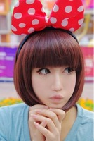 Prettifier short straight hair wig fluffy qi bobo short hair straight hair bangs vs sassoon wig