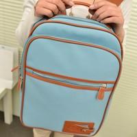 The new popular 2013 Korean bag backpack school bag  women's handbag laptop bag plane bag Lady's bag purse  Free Shipping