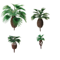 Model Palm tree Scale Train Layout  size 40mm KDP-40  Plastic model tree