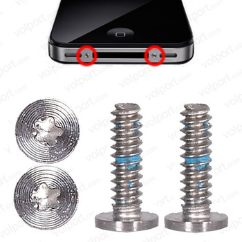 400X original screws 5 point star pentagonal screw bottom dock connector screws for iPhone 4g 4s free shipping
