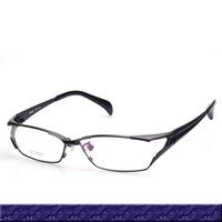 Free Shipping Eyeglass Frames 100% Pure Titanium Top Quality Full Rim Toughness Black And Gun Optical Frame Glasses Men (SU-213)