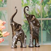EMS Fashion decoration resin desktop decoration a pair  two pcs elephant graceful little adornment give you lucky