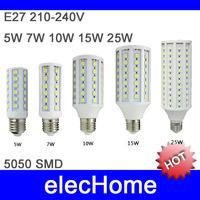 LED Bulb E27 5W 7W 10W 15W 20W 25W 30W 220V 110V E14 B22 LED Corn Light Lamp Bulbs Spotlight 5050 SMD Free Shipping