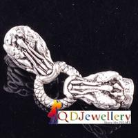 Wholesale 10pcs/lot Fashion Dragon buckle fit 6mm Leather Bracelet Buckle Clasp Hooks Connectors End Caps Jewelry Findings V5327