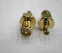 Free shipping CRC9 Plug adapter.Reverse Polarity SMA Jack.RF adapter RPSMA/CRC9 external antenna coaxial adapter card