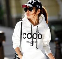2013 spring and autumn coco individuality sweatshirt casual hooded fleece women's fashion sweatshirt women's  HD78