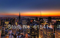 "07 New York skyline view cityscape 22""x14"" Inch Wallpapr Sticker Poster"