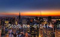 "07 New York skyline view cityscape 38""x24"" Inch Wallpapr Sticker Poster"